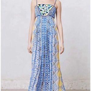 Anthropologie Ranna Gill beaded maxi dress